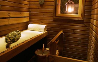 Levin lumienkeli Alppihuoneisto A6 sauna; Levi Snowangel A6