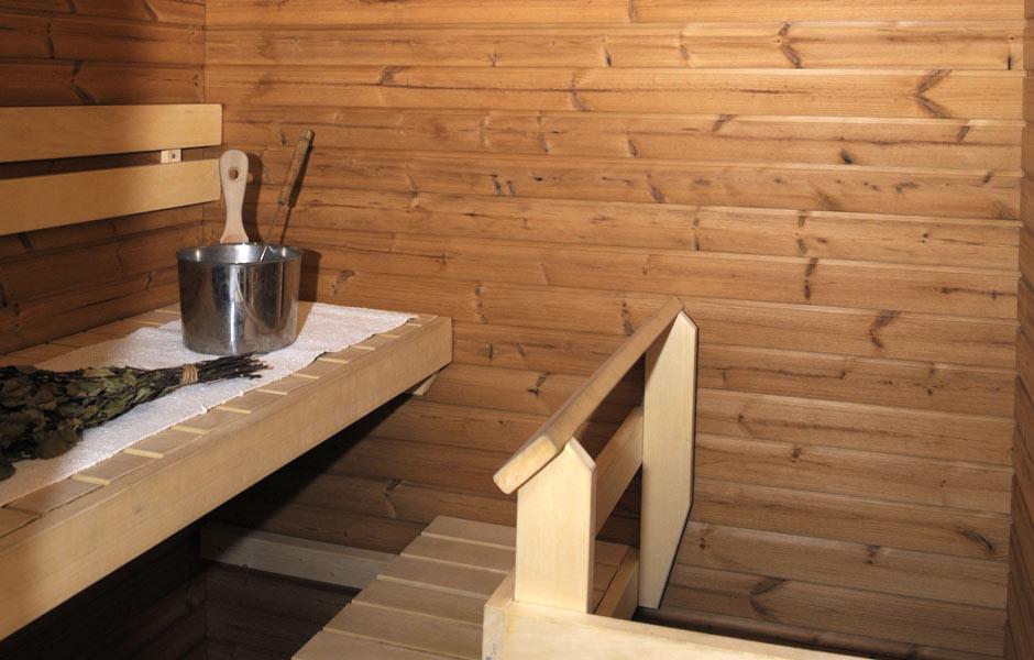 Levin Lumienkeli Alppihuoneisto B3 sauna; Levi Snowangel B3